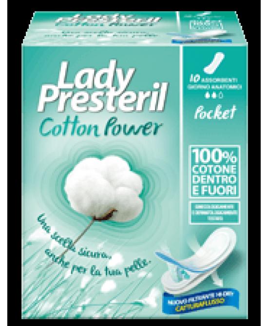 Lady Presteril Cotton Power Anatomici Assorbenti Stesi In Cotone 10 Pezzi - Zfarmacia