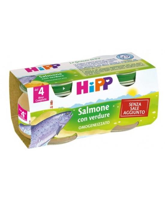 HiPP Biologico Omogeneizzato Salmone Con Verdure 2x80g - Farmajoy