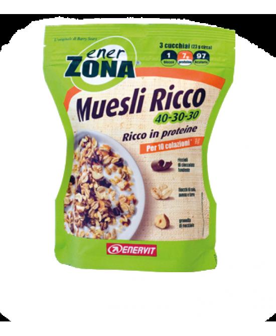 Enervit EnerZona Muesli Ricco 40-30-30 230g - Farmastar.it