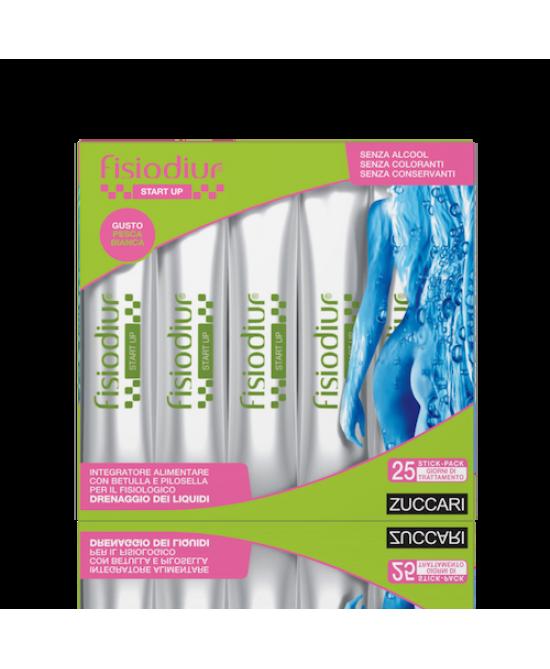 Zuccari Fisiodiur Start-Up Pesca Bianca 25 Stick Pack Da 10ml