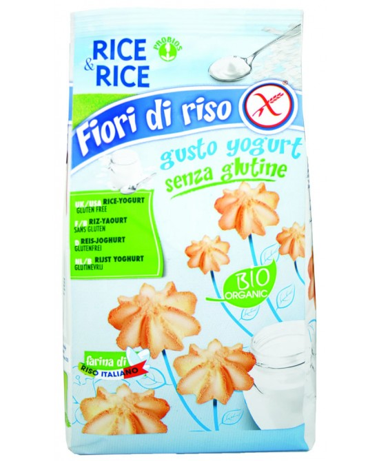 Rice&Rice Fiori Di Riso Allo Yogurt Biologico 250g - FARMAEMPORIO