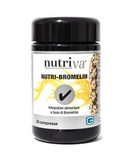 Nutriva Nutri-Bromelin Integratore Alimentare 30 Compresse - Farmafamily.it