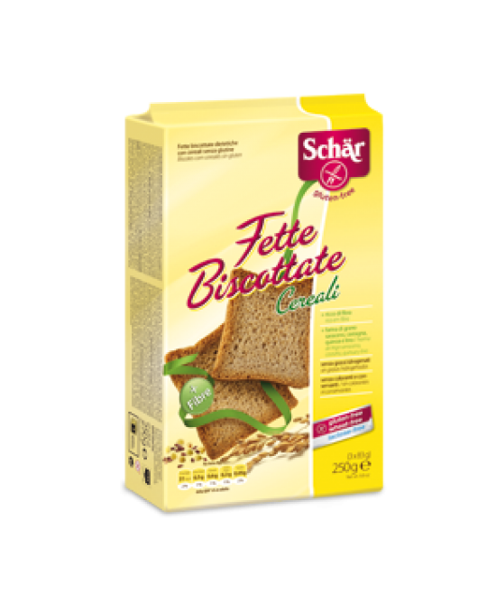 Schar Fette Biscottate Con Cereali Senza Glutine 250g - Farmawing