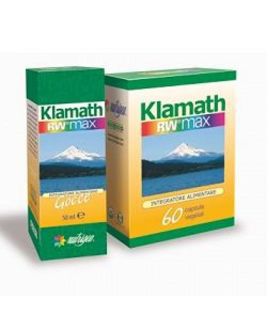 Klamath Rw Max Integratore di Alghe 60 Capsule