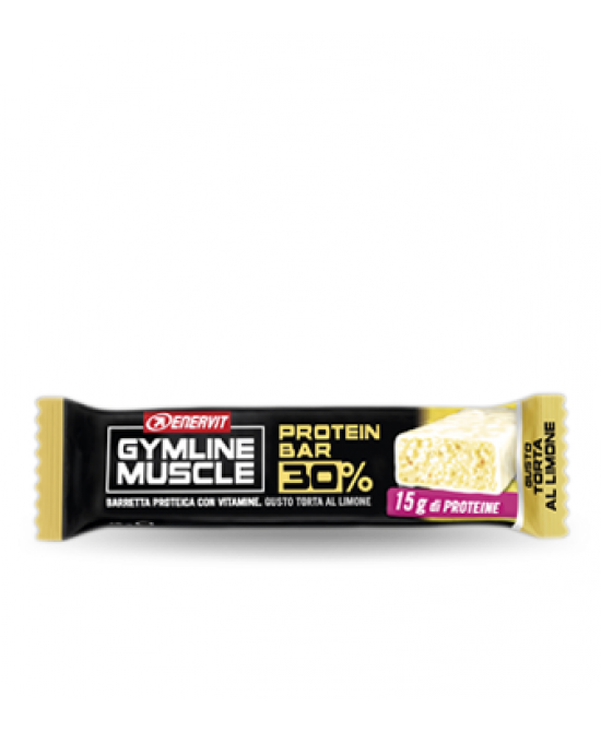 Enervit Gymline Muscle Protein Bar 32% Limone Barretta Proteica 48g  - latuafarmaciaonline.it
