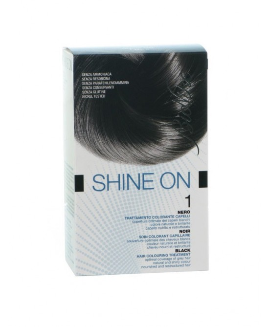 BioNike Shine On Trattamento Colorante Capelli Nero 1 - Farmafamily.it