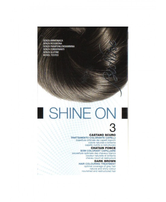 BioNike Shine On Trattamento Colorante Capelli Castano Scuro 3 - Farmafamily.it