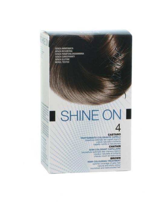 BioNike Shine On Trattamento Colorante Capelli Castano 4 - Zfarmacia