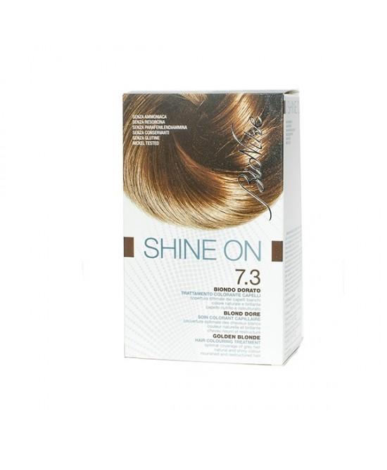 BioNike Shine On Trattamento Colorante Capelli Biondo Dorato 7.3 - Zfarmacia