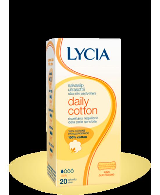 Lycia Daily Cotton Salvaslip 20 Pezzi - Spacefarma.it