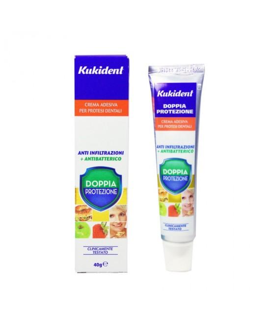 Kukident Plus Doppia Protezione Crema Adesiva Per Protesi Dentali 40g - Farmacia 33