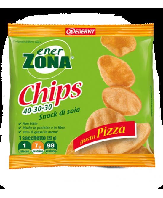EnerZona Chips 40-30-30 Snack di Soia Gusto Pizza 23 g - Farmalilla
