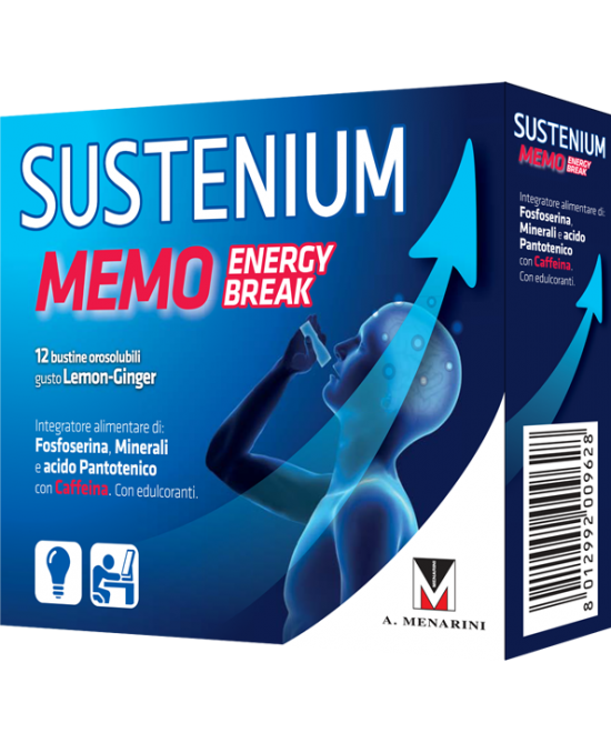 Sustenium Memo Energy Break Integratore Alimentare 12 Bustine Da 2g - Farmafamily.it