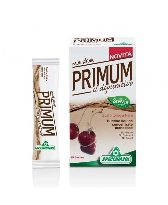 Specchiasol Primum Depurativo Mini Drink Gusto Ciliegia Nera 15 Bustine Liquide Monodose - Farmabros.it
