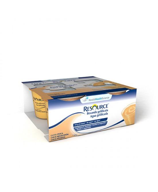 RESOURCE BEVANDA GELIFICATA PESCA 4 VASETTI 125 G - Farmacistaclick