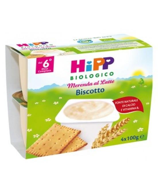 Hipp Biologico Merenda Al Latte Biscotto 100g 4 Pezzi - Farmajoy