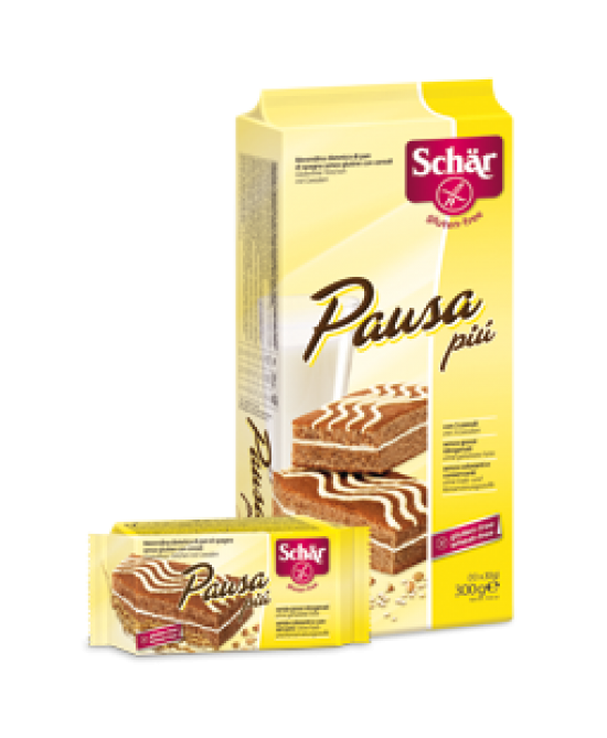Schar Pausa Più Merendina di Pan di Spagna Senza Glutine con Cereali 10x30 g