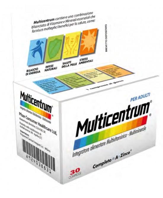 MULTICENTRUM ADULTI 30 COMPRESSE - Farmaci.me