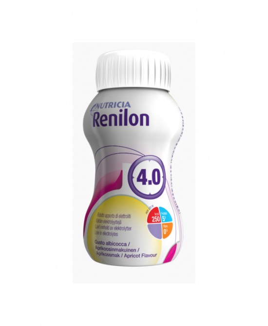 Nutricia Renilon 4.0 Integratore Alimentare Gusto Albicocca 4x125ml - Zfarmacia