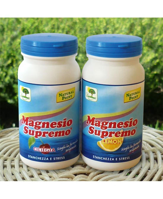 Natural Point Magnesio Supremo Gusto Lemon  Integratore Alimentare 150g - Farmafamily.it