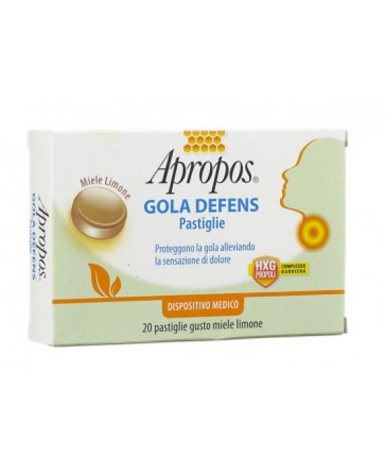 Apropos Gola Defens Miele E Limone 20 Pastiglie - Farmafamily.it