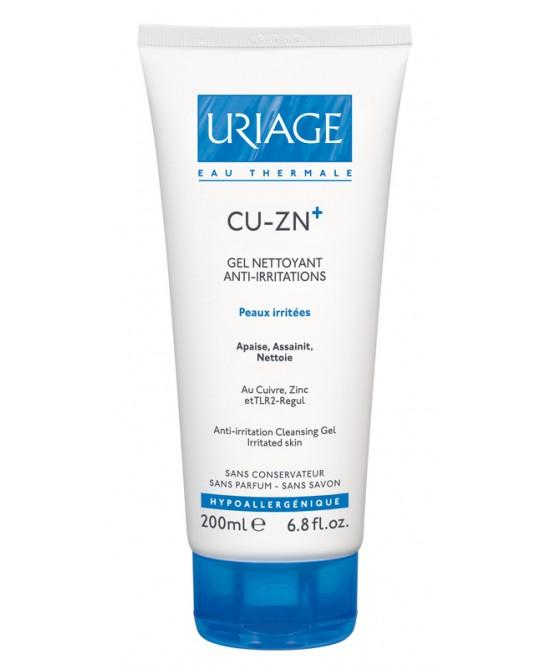 Uriage Cu-Zn+ Gel Detergente Anti-Irritazioni Per Cute Aggredita Ed Irritata Tubo 200ml - Farmabros.it