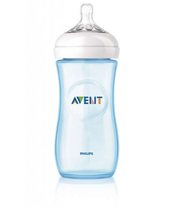 Philips AVENT Biberon Natural Prime Poppate 330ml Tettarella A Flusso Medio +3M  Azzurro - Farmaciaempatica.it