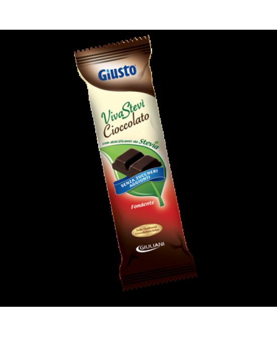 Giusto VivaStevì Cioccolato Fondente Senza Glutine 35g - Farmacia Giotti