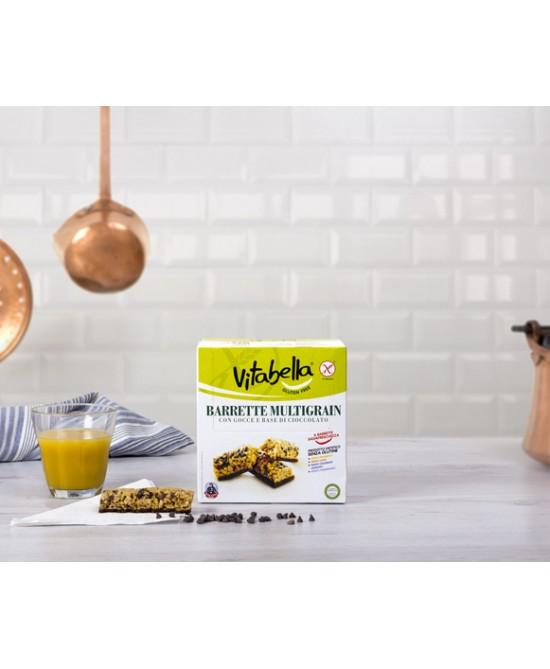 Vitabella Barrette Multigrain Con Gocce Di Cioccolato Senza Glutine 6 Pezzi offerta