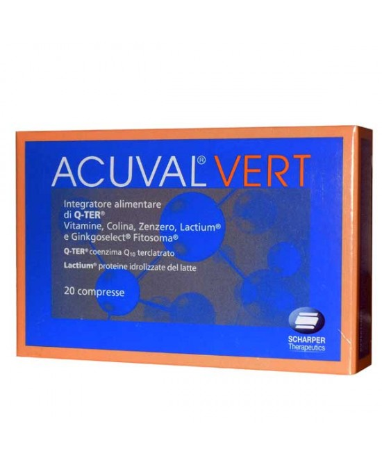 Acuval Vert 20 compresse 1,2g - Spacefarma.it