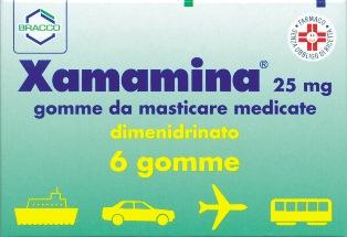 XAMAMINA*6 GOMME MAST 25MG - Farmastop
