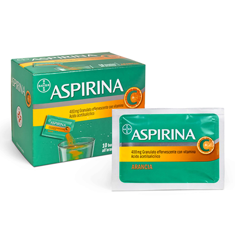 Aspirina C 400mg Granulato Effervescente Con Vitamina C 10 Bustine Arancia - Zfarmacia