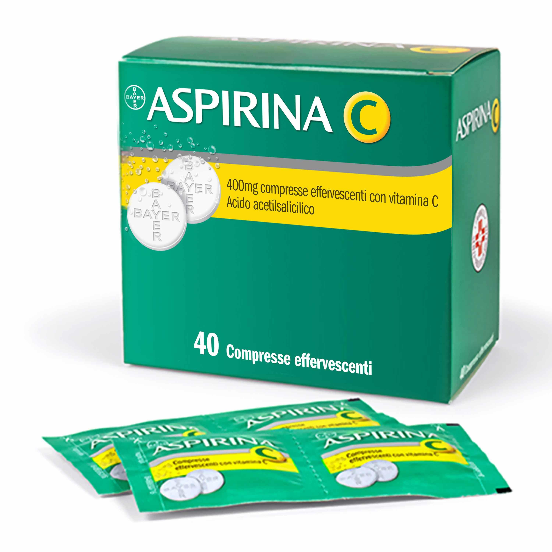 Aspirina C 400 + 240 mg Compresse Effervescenti con Vitamina C 40 Compresse - Farmalilla