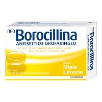 NeoBorocillina Antisettico Orofaringeo 6,4 mg + 52 mg Miele E Limone  16 Pastiglie - latuafarmaciaonline.it