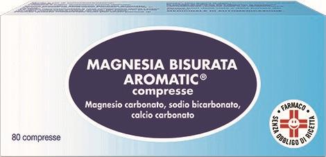 Magnesia Bisurata Aromatic 80 Pastiglie - Farmastar.it
