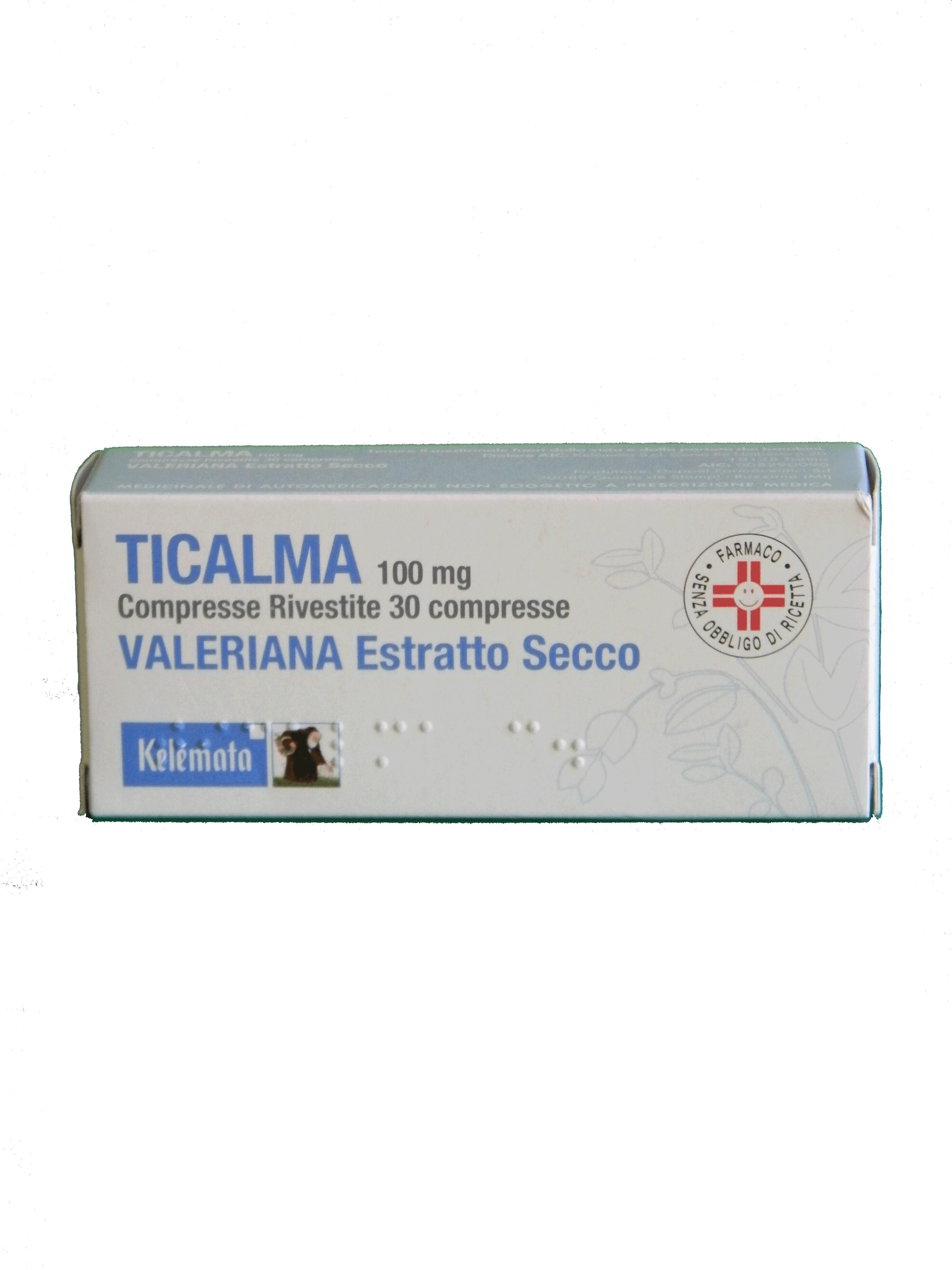 TICALMA*30CPR RIV 100MG - Parafarmacia la Fattoria della Salute S.n.c. di Delfini Dott.ssa Giulia e Marra Dott.ssa Michela