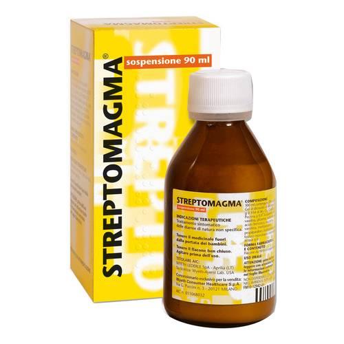 Wyeth Streptomagma Sospensione Trattamento Sintomatico Diarree Flacone 90ml - Farmaunclick.it