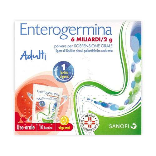ENTEROGERMINA 6 MILIARDI 2G 10 BUSTINE FERMENTI LATTICI - Nowfarma.it