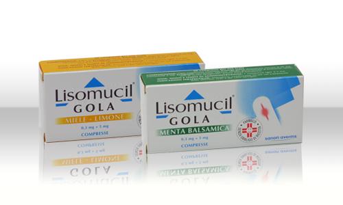 Lisomucil Gola Dequalinio Clururo E Enossolone 0.5mg + 5mg Miele Limone 20 Compresse - farmaventura.it