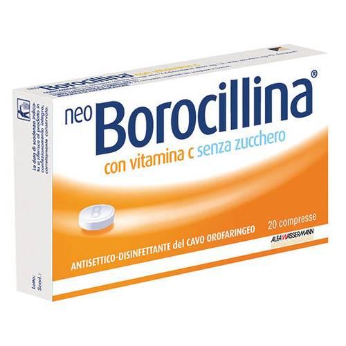 NeoBorocillina Con Vitamina C 1.2mg + 70mg Senza Zucchero 20 Pastiglie - Turbofarma.it