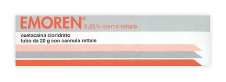 EMOREN*RETT CREMA 20G 0,25% - Farmaci.me