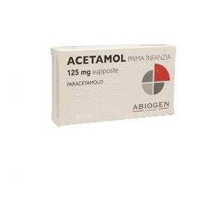 Acetamol Prima Infanzia 125 mg Paracetamolo 10 Supposte offerta