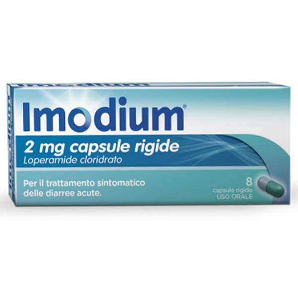 Imodium 2mg 8 Capsule Rigide - Arcafarma.it