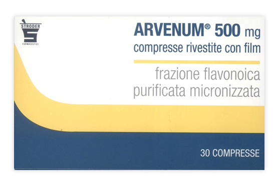 Arvenum 500mg Sintomi Attribuibili ad Insufficienza Venosa Confezione 30 Compresse Rivestite - Sempredisponibile.it