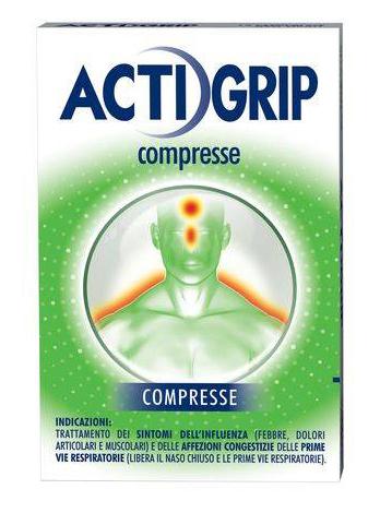 Actigrip Trattamento Dei Sintomi Dell'Influenza 12 Compresse - Turbofarma.it