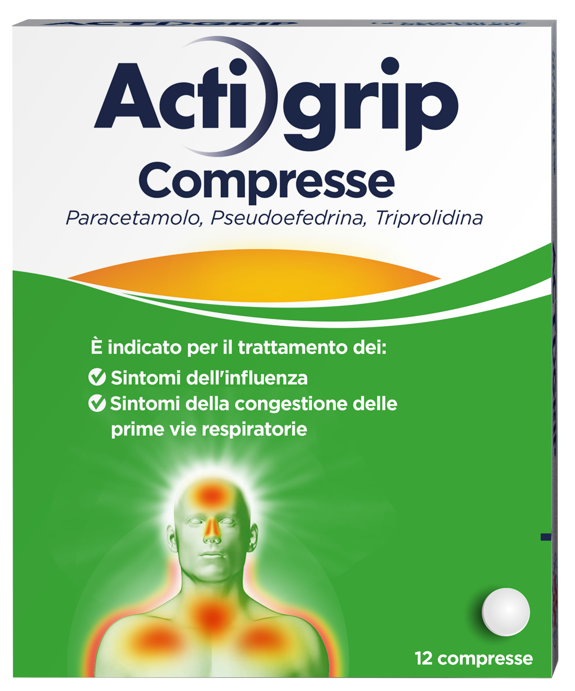 ACTIGRIP*12CPR 2,5+60+500MG - farmaventura.it