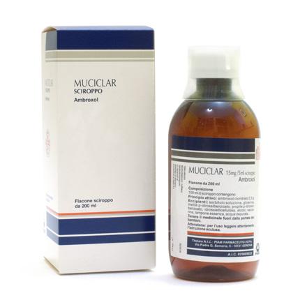 Muciclar Sciroppo 15 mg/5 ml  Ambroxolo cloridrato Tosse 200 ml offerta