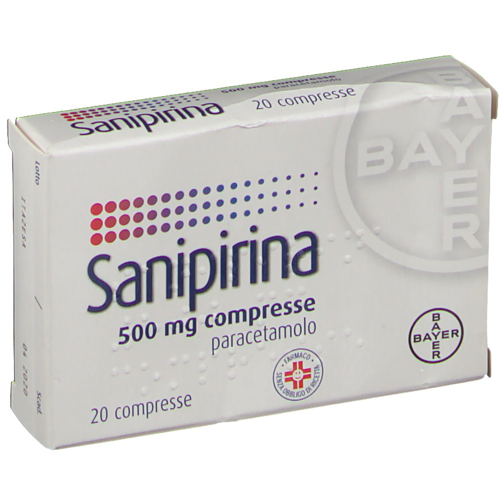 SANIPIRINA*20CPR 500MG - Farmastop