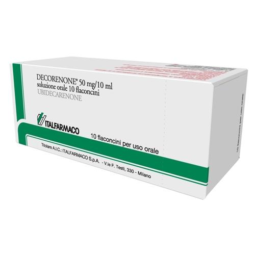 Decorenone 50 Soluzione Orale 50 mg  Ubidecarenone 10 Flaconcini offerta