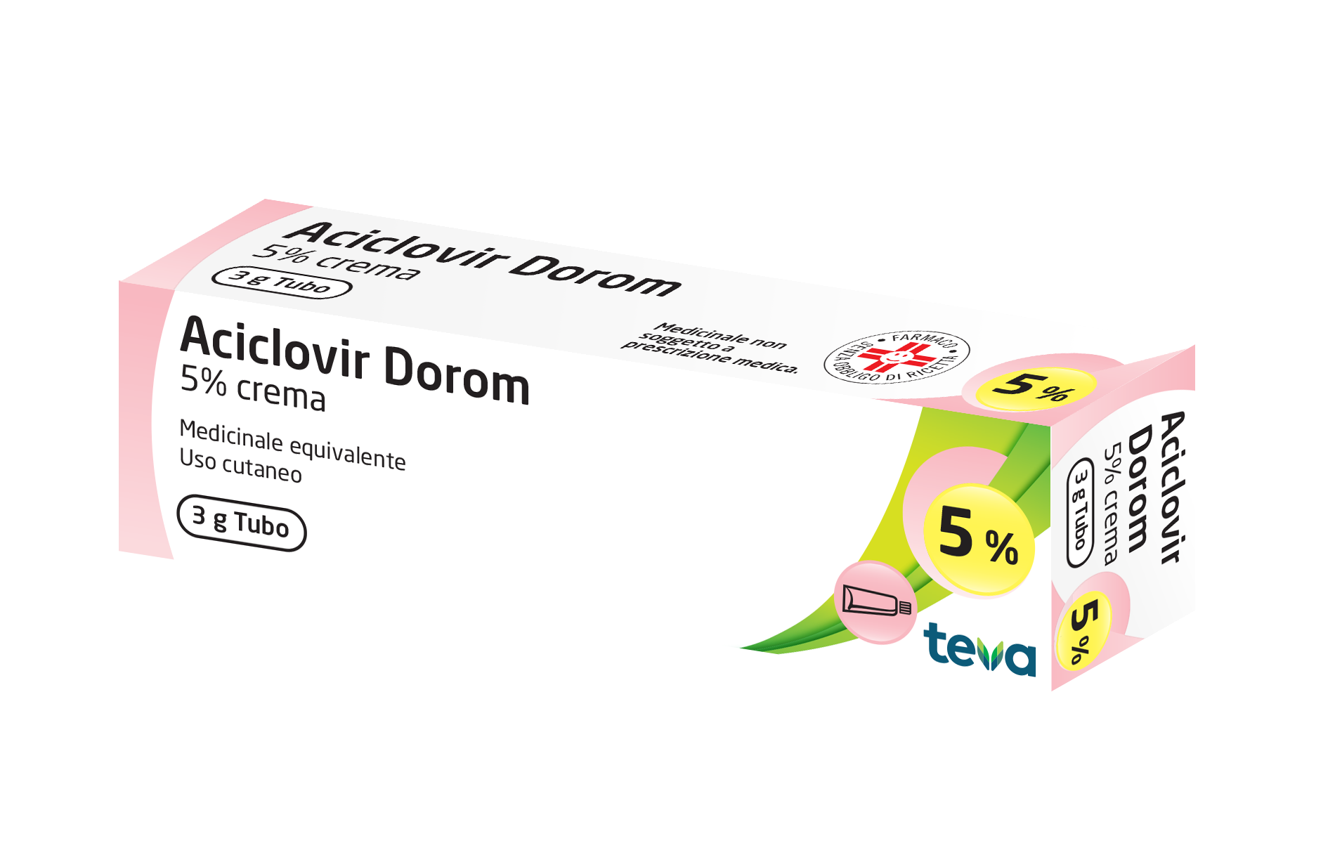 ACICLOVIR DOROM*CREMA 3G 5% - Spacefarma.it